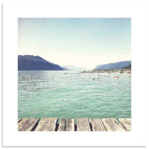 affiche photo lac du Bourget Savoie