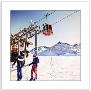 affiche photo Méribel Mottaret 3 Vallées hiver neige montagne ski décoration impression d'art