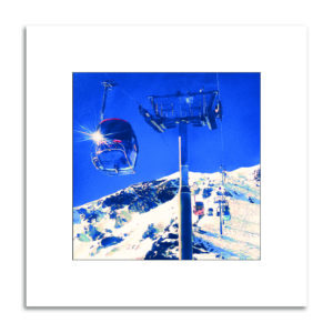 télécabine plattières3 3vallée montagne hiver ski affiche décorations
