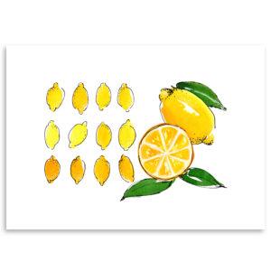 citron lemon art print décoration affiche