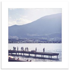 Photo lac du bourg été vacances souvenir montagne savoie affiche art print décoration murale