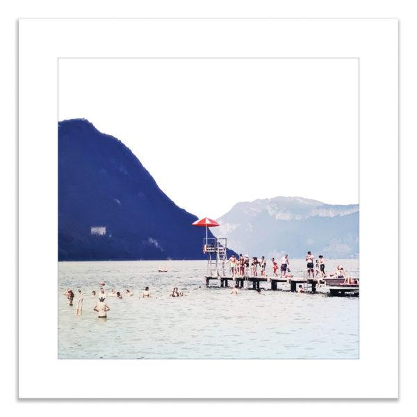 Photo lac du bourget été vacances souvenir montagne savoie affiche art print décoration murale