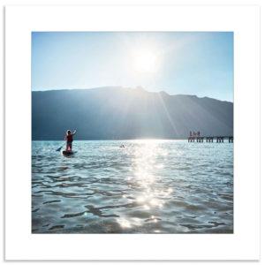Photo lac du bourget paddle été vacances souvenir montagne savoie affiche art print décoration murale