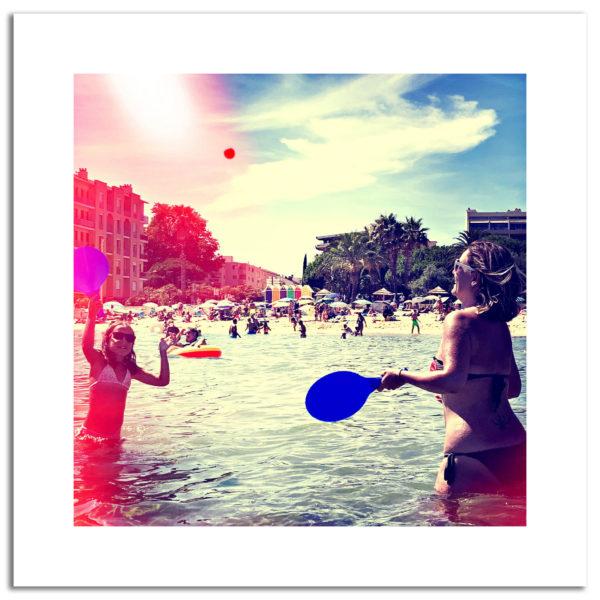 photo lavandou été summer vintage parasols bord de mer affiche décoration murale art photographie art print