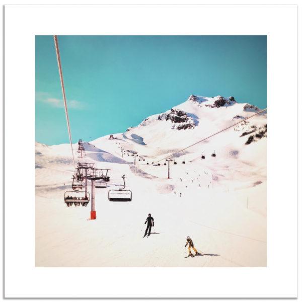 phographie montagne neige hiver ski vacances 3vallées mottaret affiche art print décoration murale