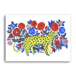 leopard in garden agathe singer sergeant paper affiche art print décoration murale giclée print