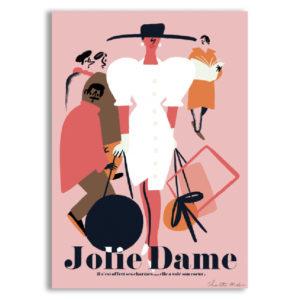 jolie dame charlotte molas sergeant paper affiche art print décoration murale