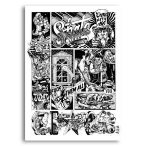 ride again shane sergeant paper affiche art print bande dessinée décoration murale